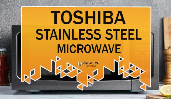 Toshiba Black Stainless Steel Microwave